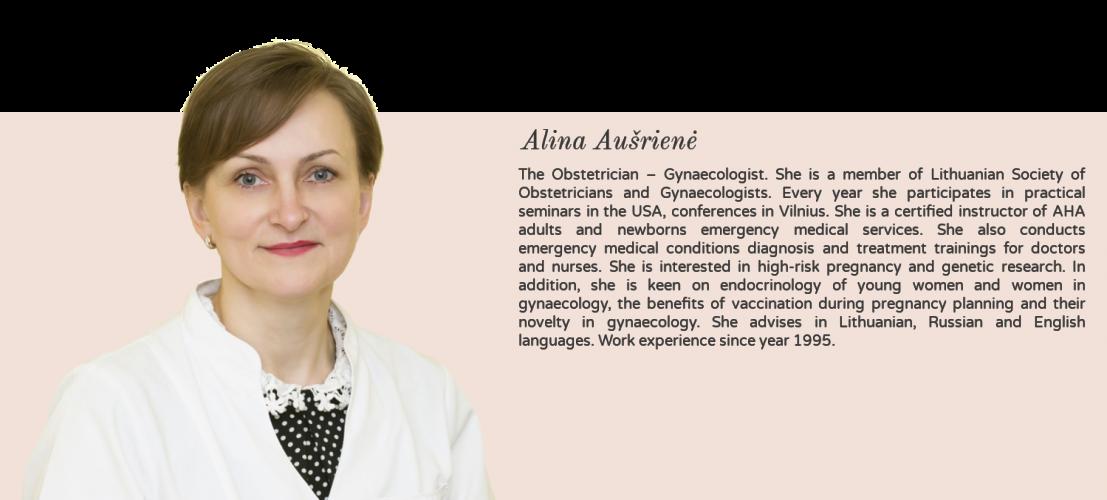 akušerė ginekologė Alina Aušrienė