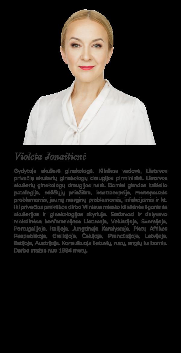 Geriausia Akušerė ginekologė Violeta Jonaitienė