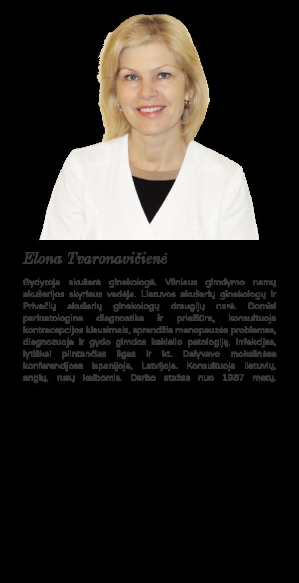 Akušerė ginekologė Elona Tvaronavičienė