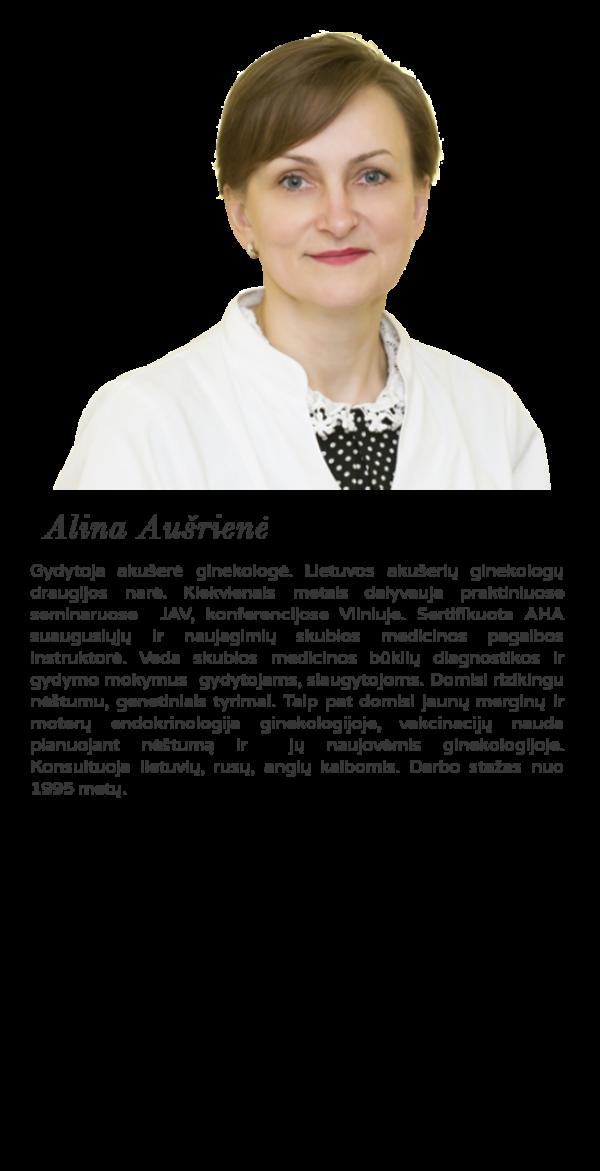 Geriausi akušeriai ginekologai Akušerė ginekologė Alina Aušrienė