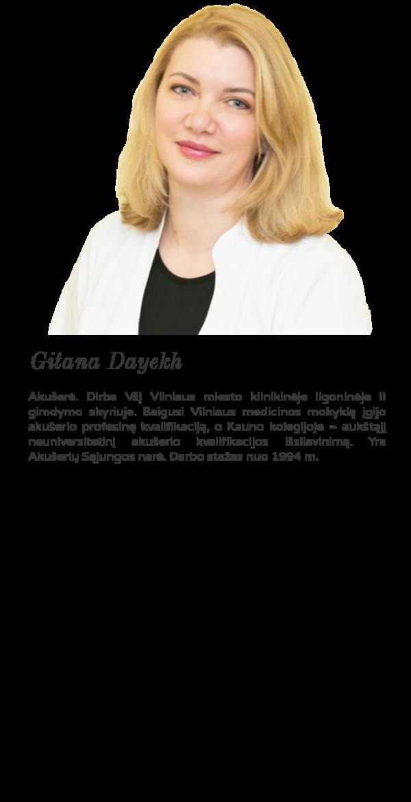 Ginekologijos klinika Vilniuje akušerė Gitana