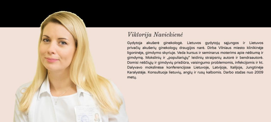 gyd. akušerė ginekologė Viktorija Navickienė