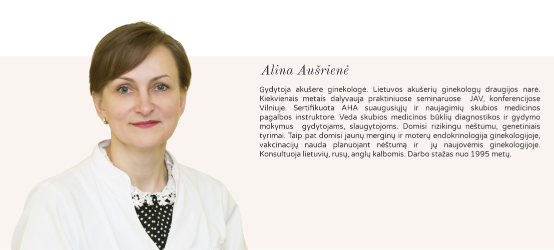 gydytoja akušerė ginekologė Alina Aušrienė