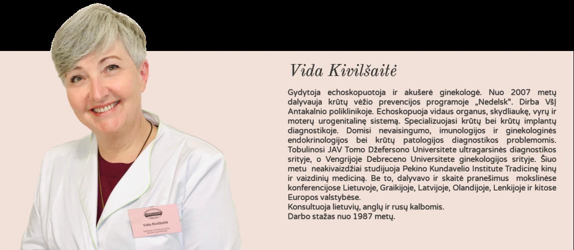 gydytoja echoskopuotoja akušerė ginekologė Vida Kivilšaitė