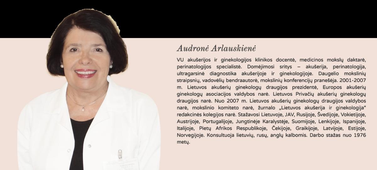 perinatologijos specialistė Audronė Arlauskienė