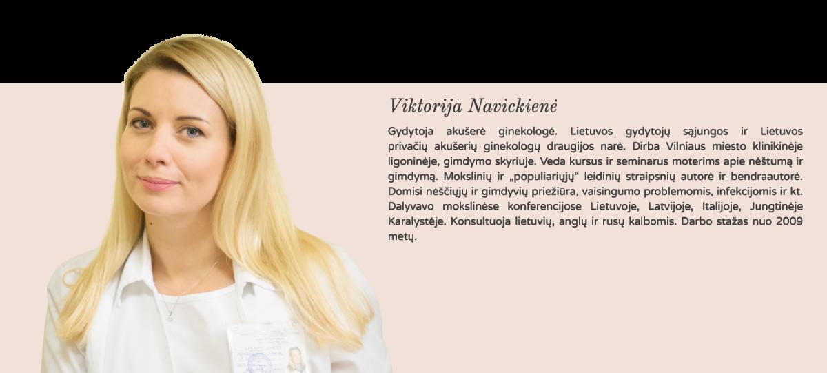 gydytoja akušerė ginekologė Viktorija Navickienė