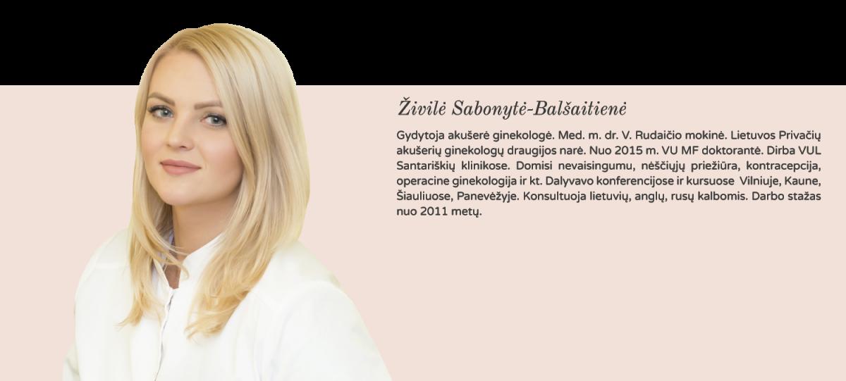 gydytoja akušerė ginekologė Živilė Sabonytė - Balšaitienė