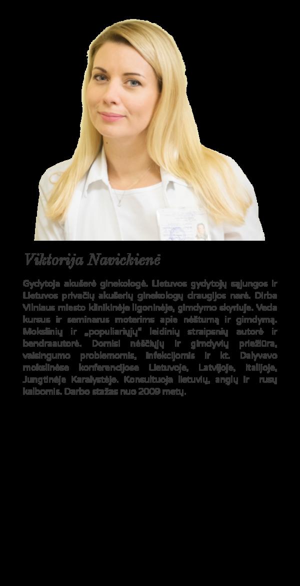 Akušerė ginekologė Viktorija Navickienė
