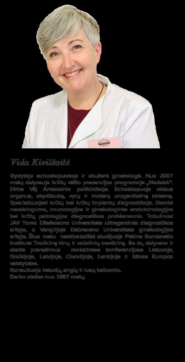 echoskopuotoja akušerė ginekologė Vida Kivilšaitė