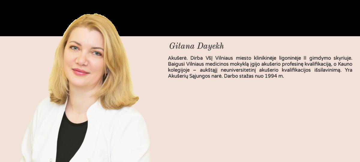 Geriausia privati ginekologijos klinika Vilniuje Gitana akušerė