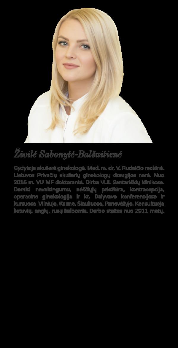 Gydytoja Živilė Sabonytė- Balšaitienė