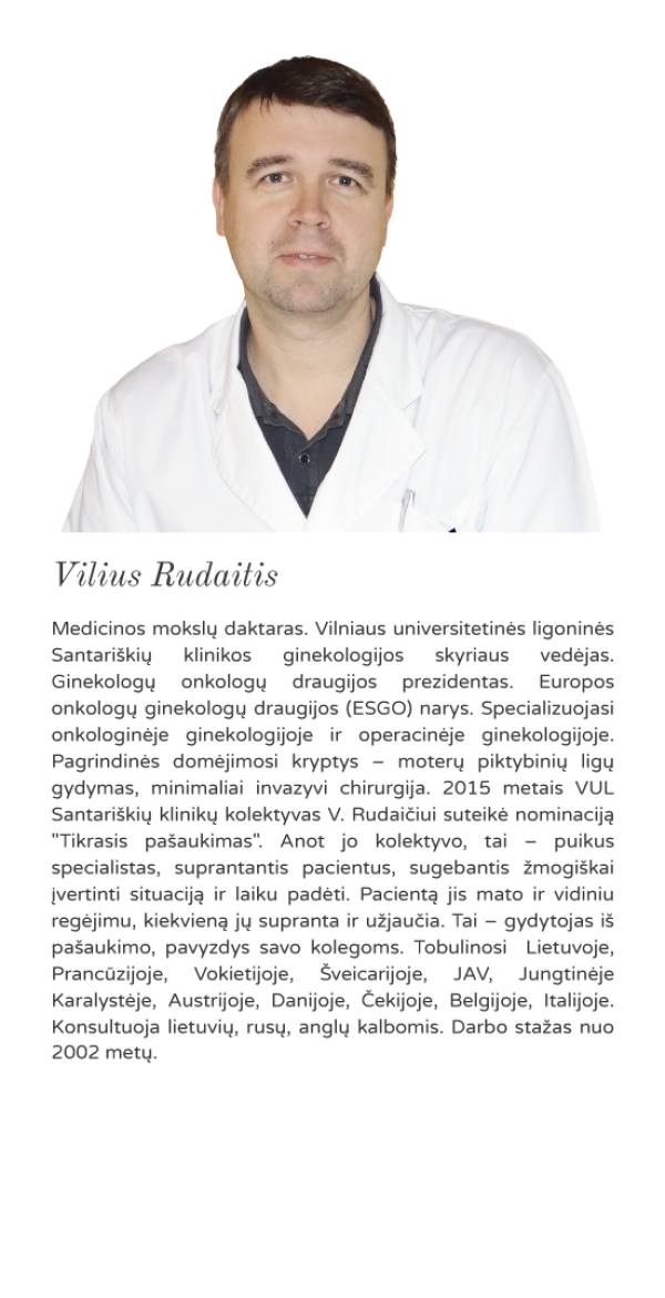 onkoginekologas Vilius Rudaitis