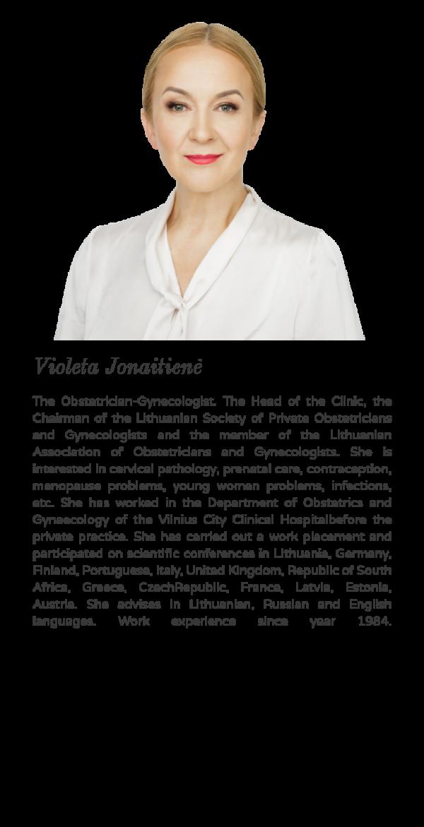 Violeta Jonaitienė – the Obstetrician-Gynecologist in Vilnius city center